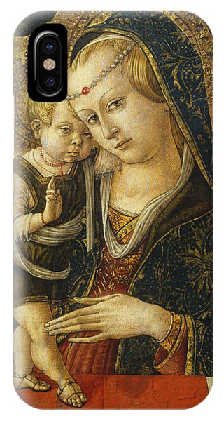 Mary Mother Of God iPhone Case - Madonna And Child by Carlo Crivelli