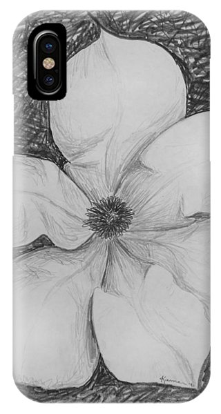 Close Up Floral iPhone Case - Magnolia by Kume Bryant