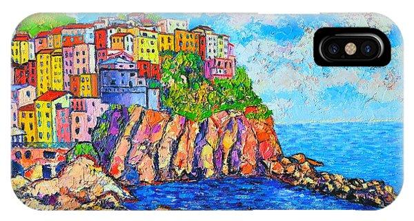 Violet iPhone Case - Manarola Cinque Terre Italy  by Ana Maria Edulescu