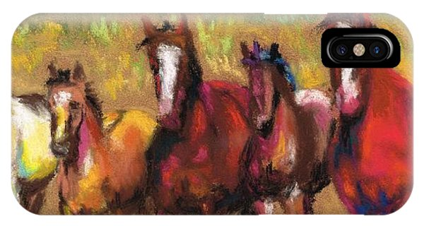 Mares And Foals IPhone Case