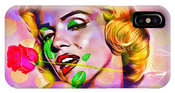 IPhone Case featuring the digital art Marilyn Monroe by Eleni Mac Synodinos