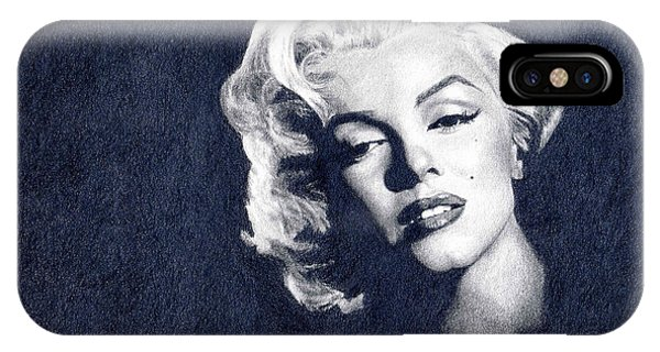 Hyper Realism iPhone Case - Marilyn Monroe by Erin Mathis