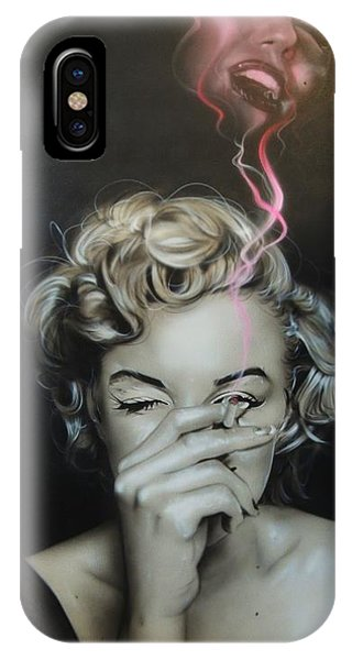 Marilyn's Crimson Haze IPhone Case