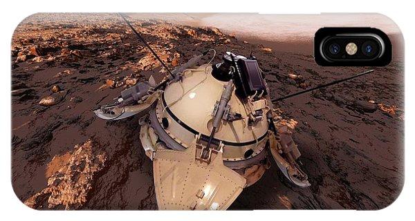 Spaceflight iPhone Case - Mars 3 Probe by Detlev Van Ravenswaay