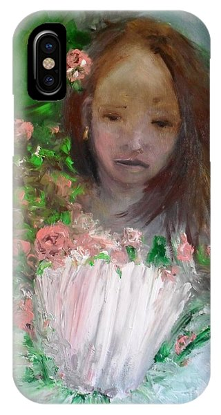 IPhone Case featuring the painting Mary Rosa by Laurie Lundquist