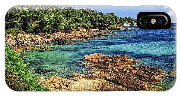French Riviera iPhone Case - Mediterranean Coast Of French Riviera by Elena Elisseeva