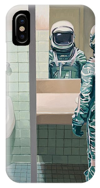 Space iPhone Case - Men's Room by Scott Listfield