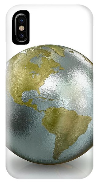 Metallic Earth Phone Case by Animated Healthcare Ltd/science Photo Library
