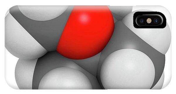 Flammable iPhone Case - Methyl Tert-butyl Ether Molecule by Molekuul