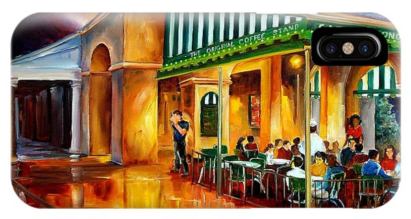 Figurative iPhone Case - Midnight At The Cafe Du Monde by Diane Millsap