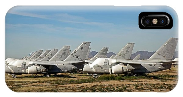 Military Aircraft In Salvage Yard Phone Case by Jim West