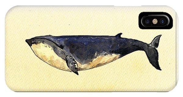 Engraving iPhone Case - Minke Whale by Juan  Bosco