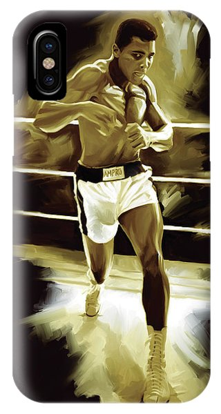 Muhammad Ali Boxing Artwork IPhone Case