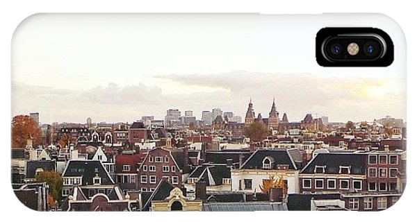 City Scape iPhone Case - My Amsterdam by Marianne Hope