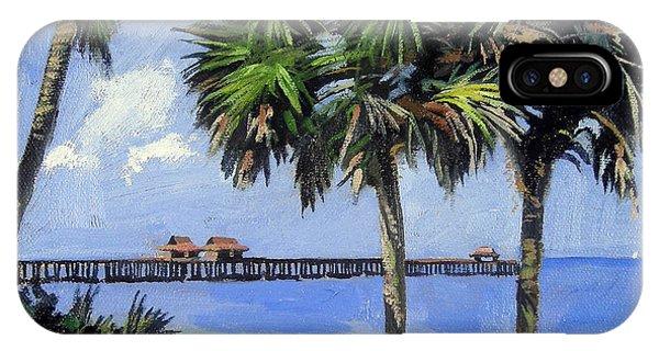 Beach Chair iPhone Case - Naples Pier Naples Florida by Christine Hopkins