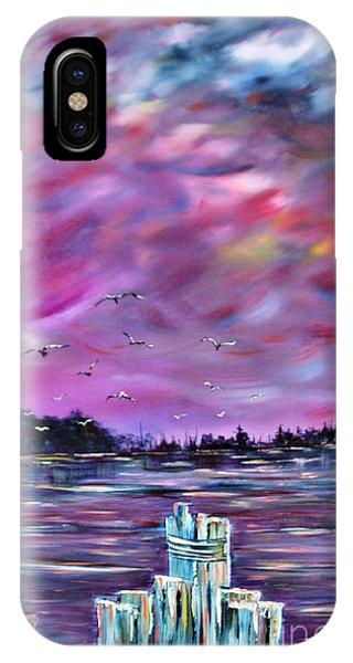 Pylon iPhone Case - Neuse River Gulls North Carolina by Janice Pariza