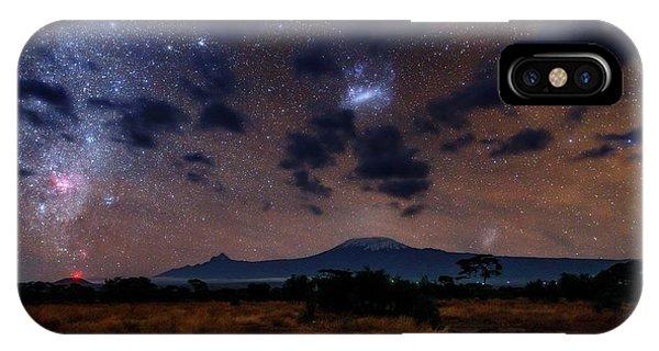 Night Sky Over Mount Kilimanjaro IPhone Case