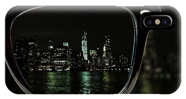 New York City iPhone Case - Night Vision by Natasha Marco