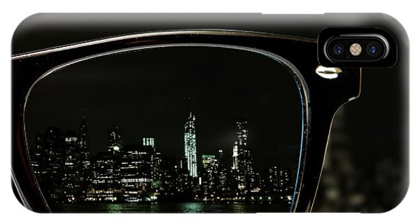 New York City iPhone Case - Night Vision by Natasha Marco