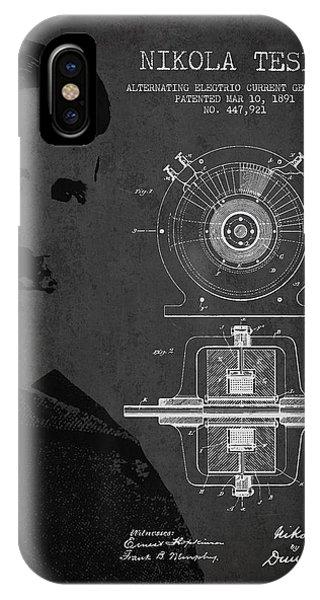 Nikola Tesla Patent From 1891 IPhone Case