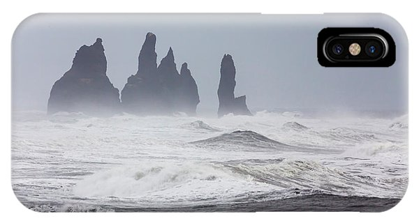 Basalt iPhone Case - North Atlantic Coast Near Vik Y Myrdal by Martin Zwick