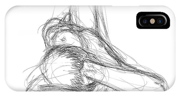 Nude Male Sketches 2 IPhone Case
