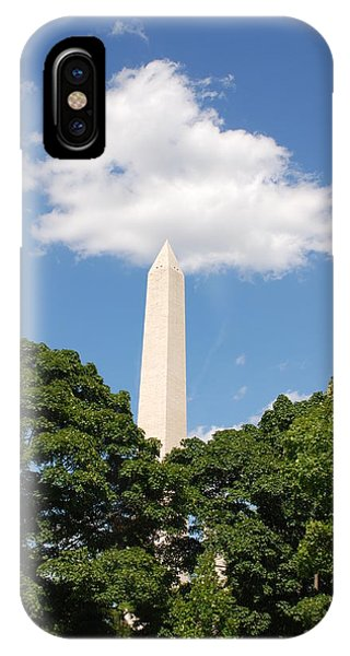 Obelisk Rises Into The Clouds IPhone Case