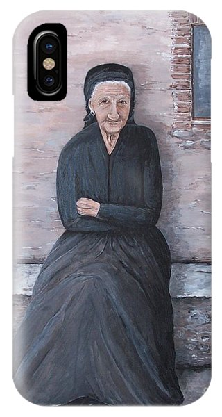 Old Woman Waiting IPhone Case