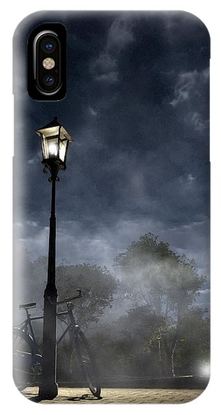 Night iPhone Case - Ominous Avenue by Cynthia Decker