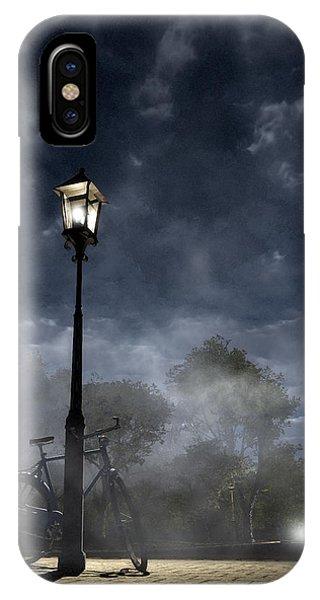 Street Light iPhone Case - Ominous Avenue by Cynthia Decker