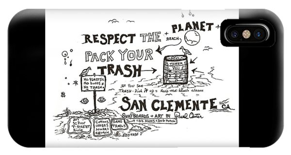 Pack Your Trash IPhone Case