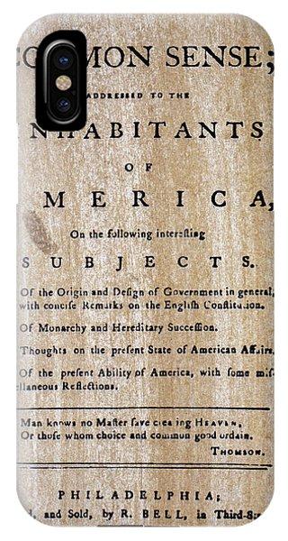 Paine: Common Sense, 1776 IPhone Case