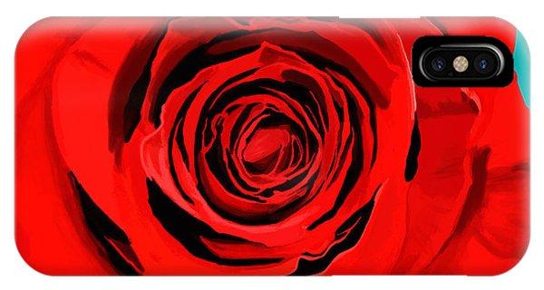 Valentines Day iPhone Case - Painting Of Single Rose by Setsiri Silapasuwanchai