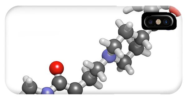 Paliperidone Drug Molecule IPhone Case