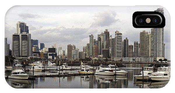 Panama City Skyline. Panama. Phone Case by Fernando Barozza