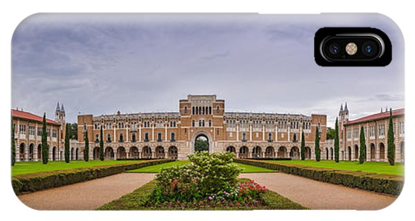 Panorama Of Rice University Academic Quad - Houston Texas IPhone Case