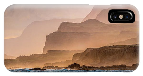 iPhone Case - Panoramic Of Molokais North Shore Sea by Richard A Cooke Iii.