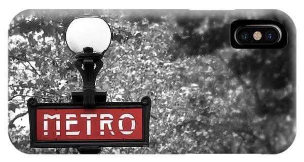 Park iPhone Case - Paris Metro by Elena Elisseeva