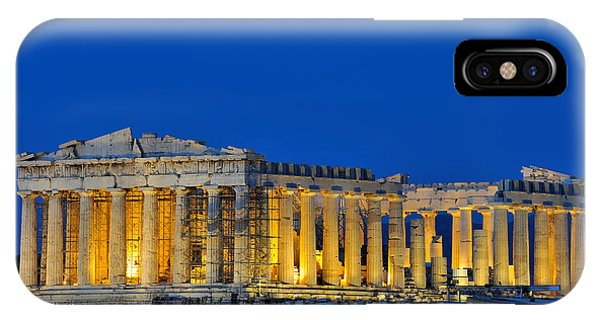 Parthenon In Acropolis Of Athens During Dusk Time IPhone Case