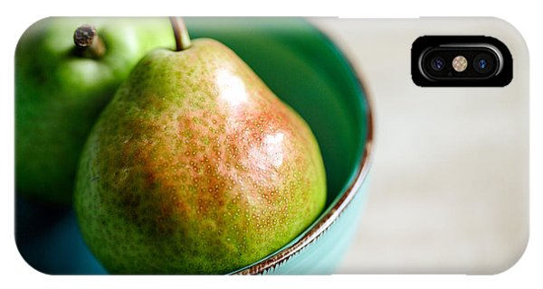 Fruit Bowl iPhone Case - Pears by Nailia Schwarz