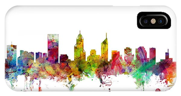 Australia iPhone Case - Perth Australia Skyline by Michael Tompsett