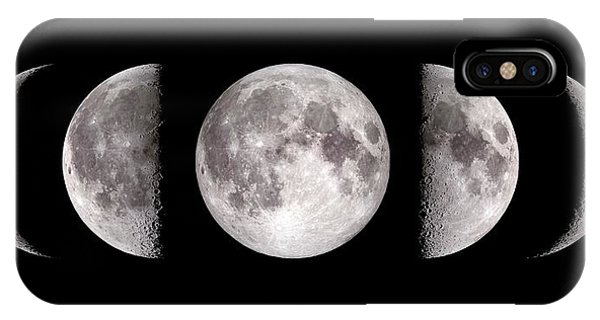 Half Moon iPhone Case - Phases Of The Moon by Nasa's Scientific Visualization Studio/science Photo Library