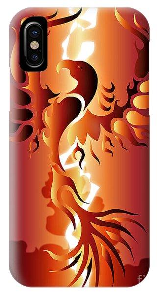 Fire Ball iPhone Case - Phoenix Rising by Robert Ball