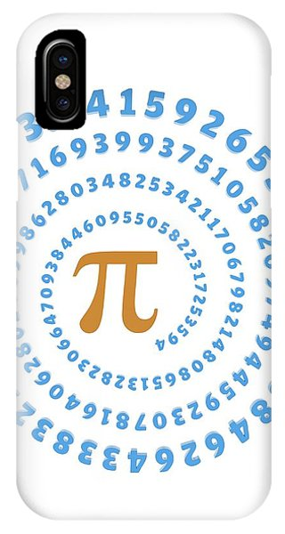 Psi iPhone Case - Pi Symbol And Number by Alfred Pasieka