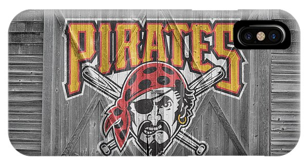 Flag iPhone Case - Pittsburgh Pirates by Joe Hamilton