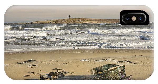Popham Beach On The Maine Coast IPhone Case