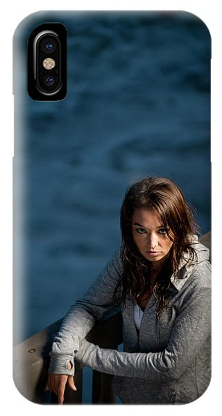 Barbara Steele iPhone Case - Portrait Of A Young Woman Endurance by Kevin Steele
