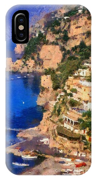 Positano Town In Italy IPhone Case