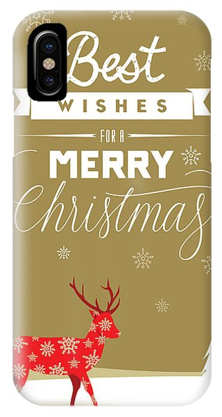 Red Deer Christmas IPhone Case