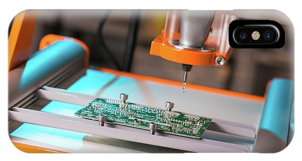 Electrical Component iPhone Case - Printed Circuit Board Processing by Wladimir Bulgar